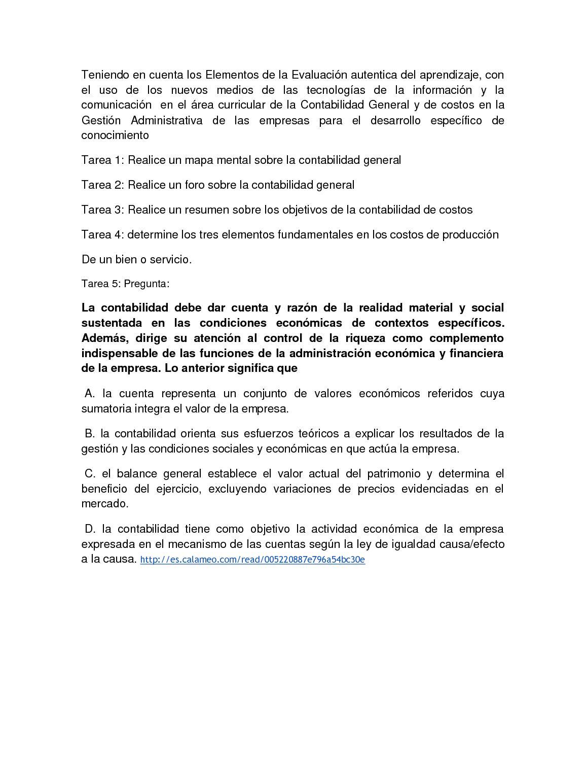 Calaméo - Tarea Calameo De Contabilid Basada En Evidencias