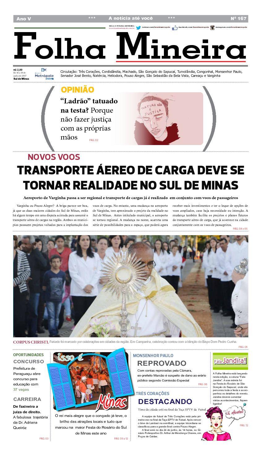 c1c49d0009 Calaméo - Jornal Folha Mineira - Edição 167