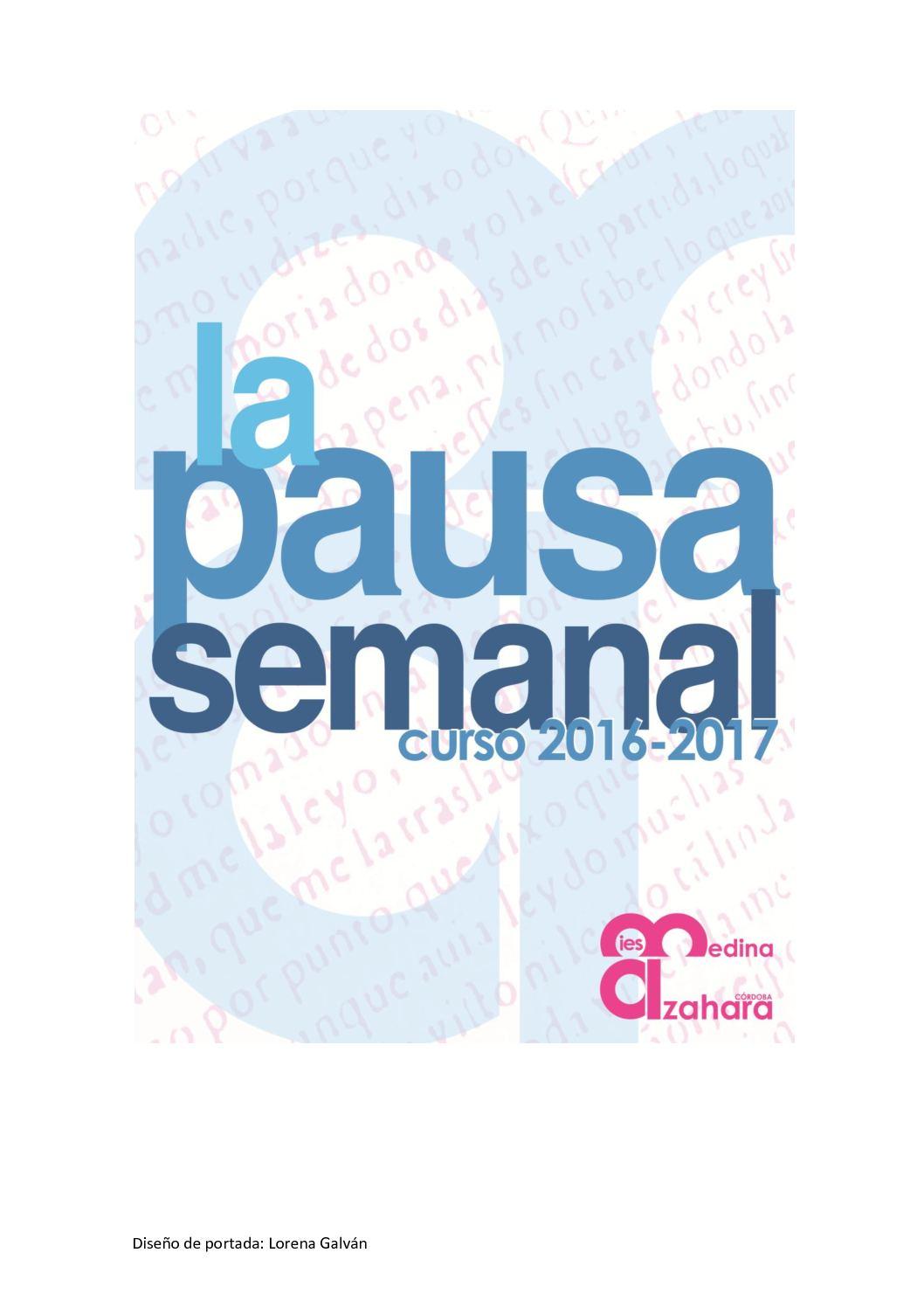 Cuadernillo De La Pausa Semanal Curso 2016 17