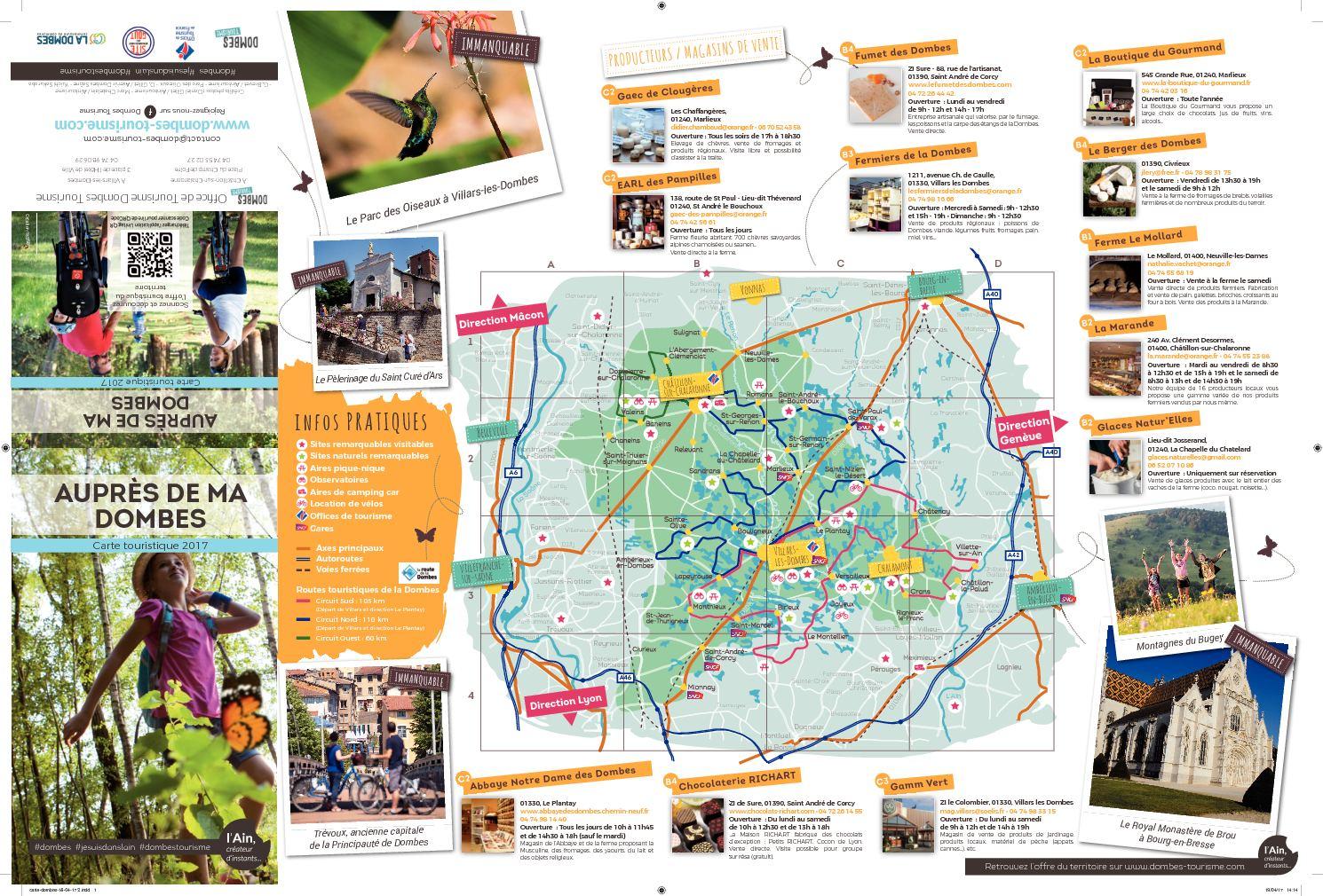 Calam o carte touristique 2017 - Office du tourisme villars les dombes ...