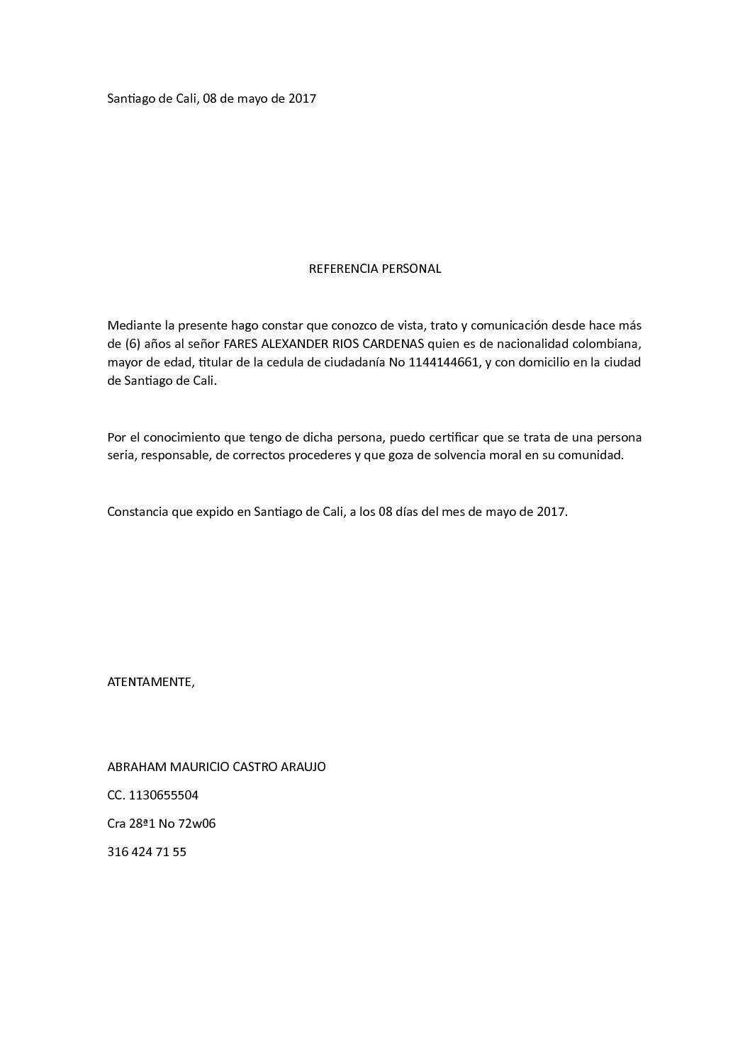 Calaméo Carta Referencia Mauricio