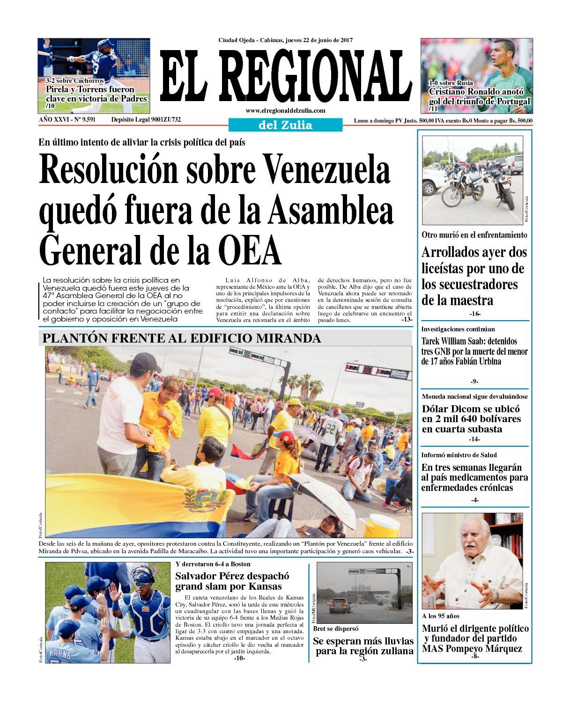 El Regional del Zulia 22-06-2017