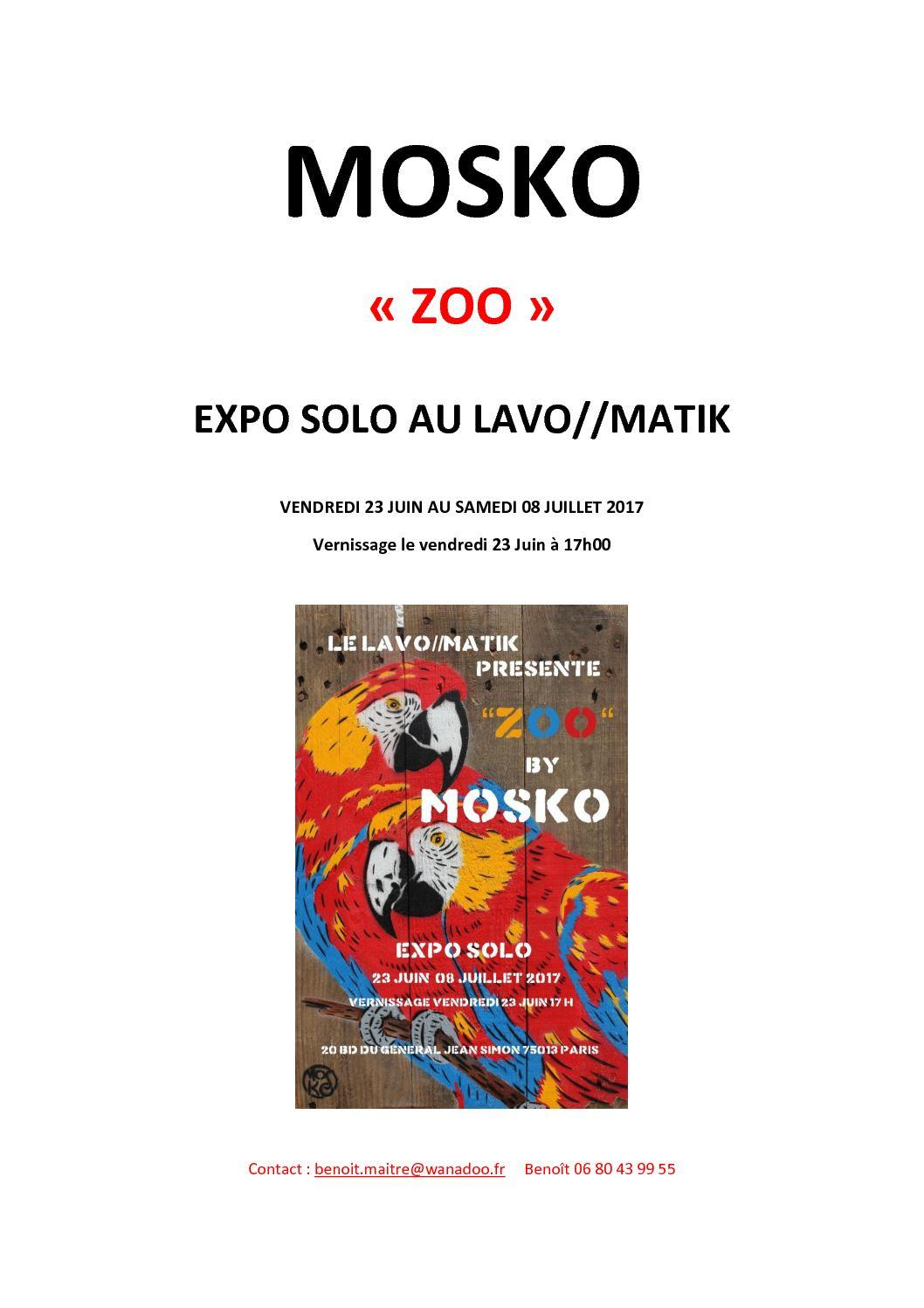 Catalogue Mosko expo solo Lavo//Matik  Juin 2017