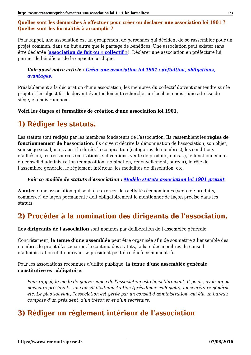 Calameo Monter Une Association Loi 1901 Les Formalites
