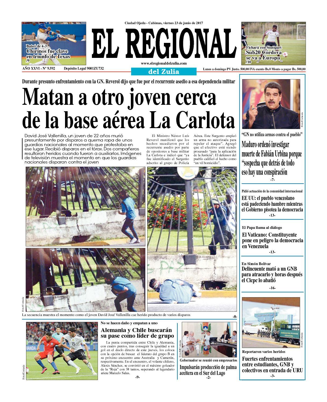 El Regional del Zulia 23-06-2017