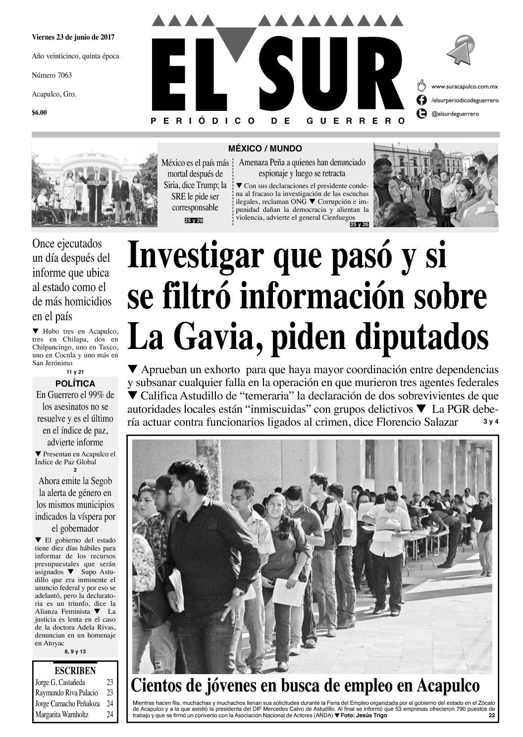 El Sur Viernes 23062017