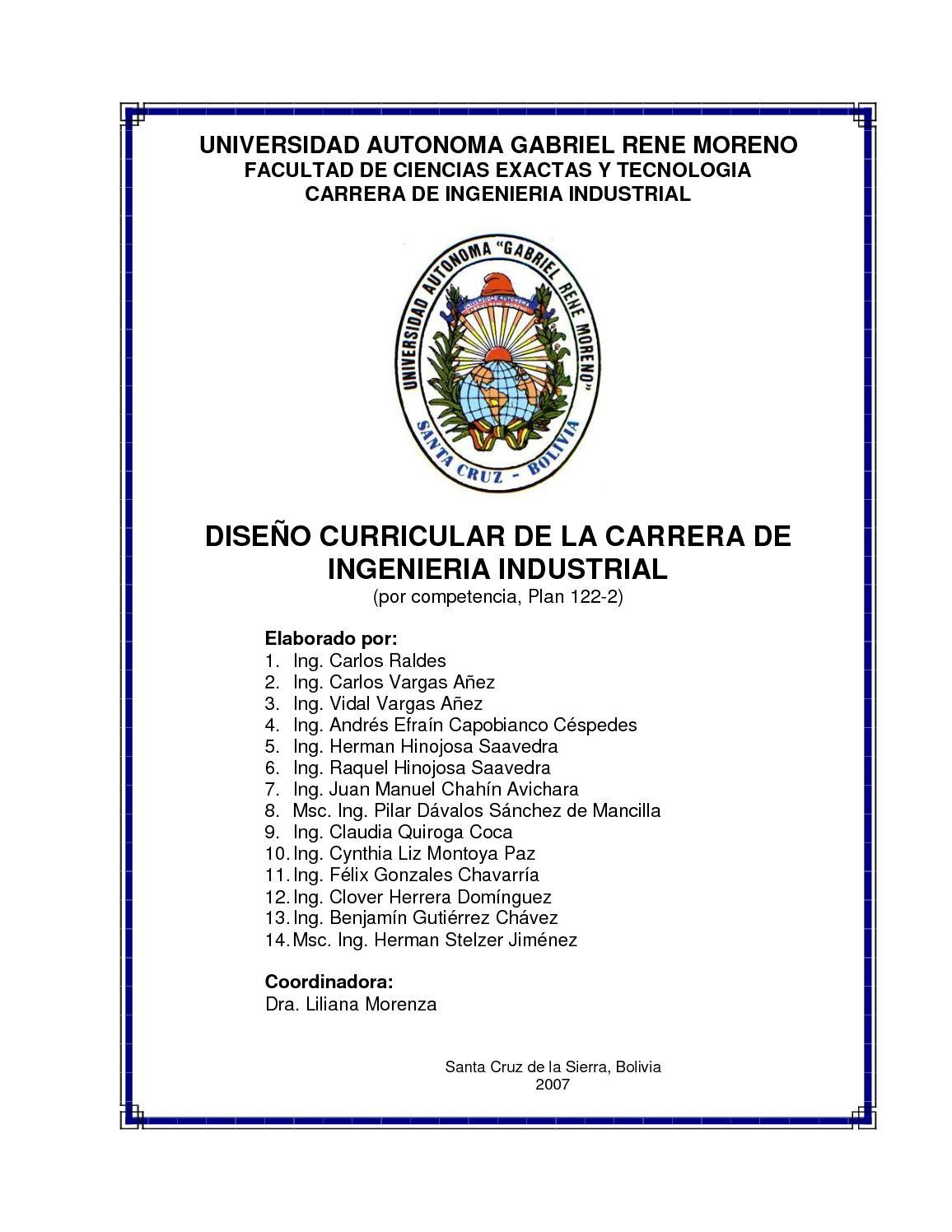 Calaméo - Diseño Curricular De Ingenieria Industrial