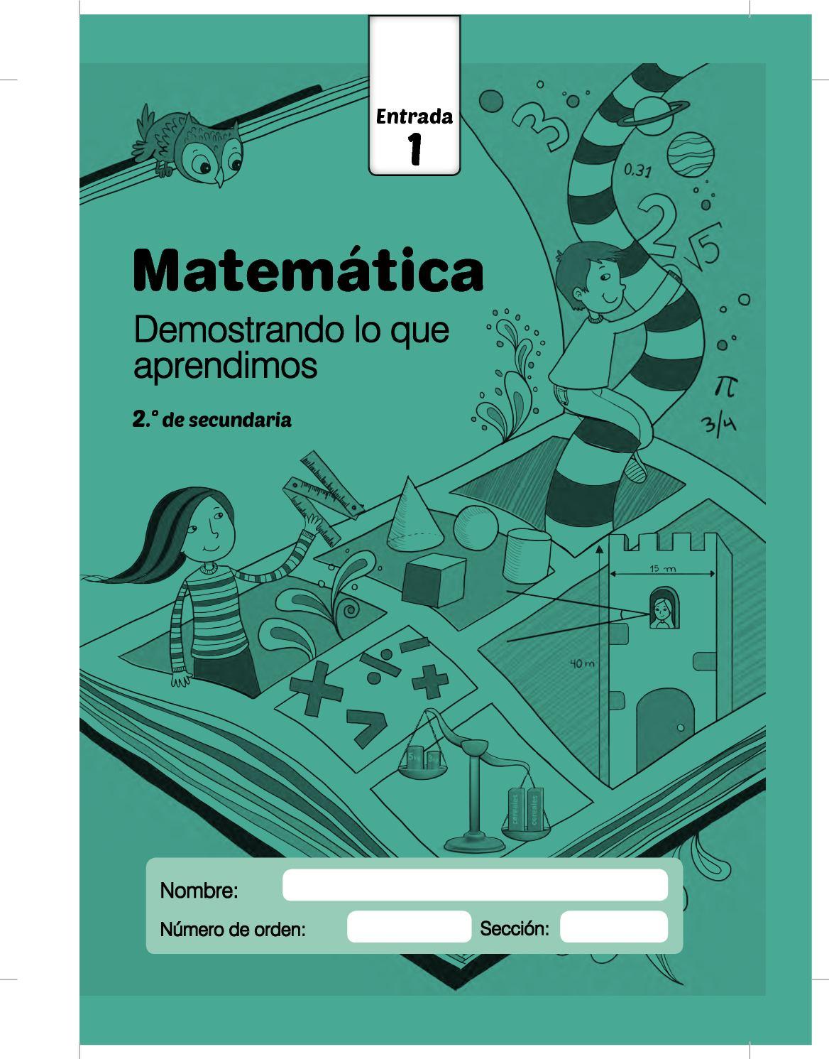 Cuadernillos Secundaria Matematica Entrada Cuadernillo Entrada1 Matematica 2do Grado