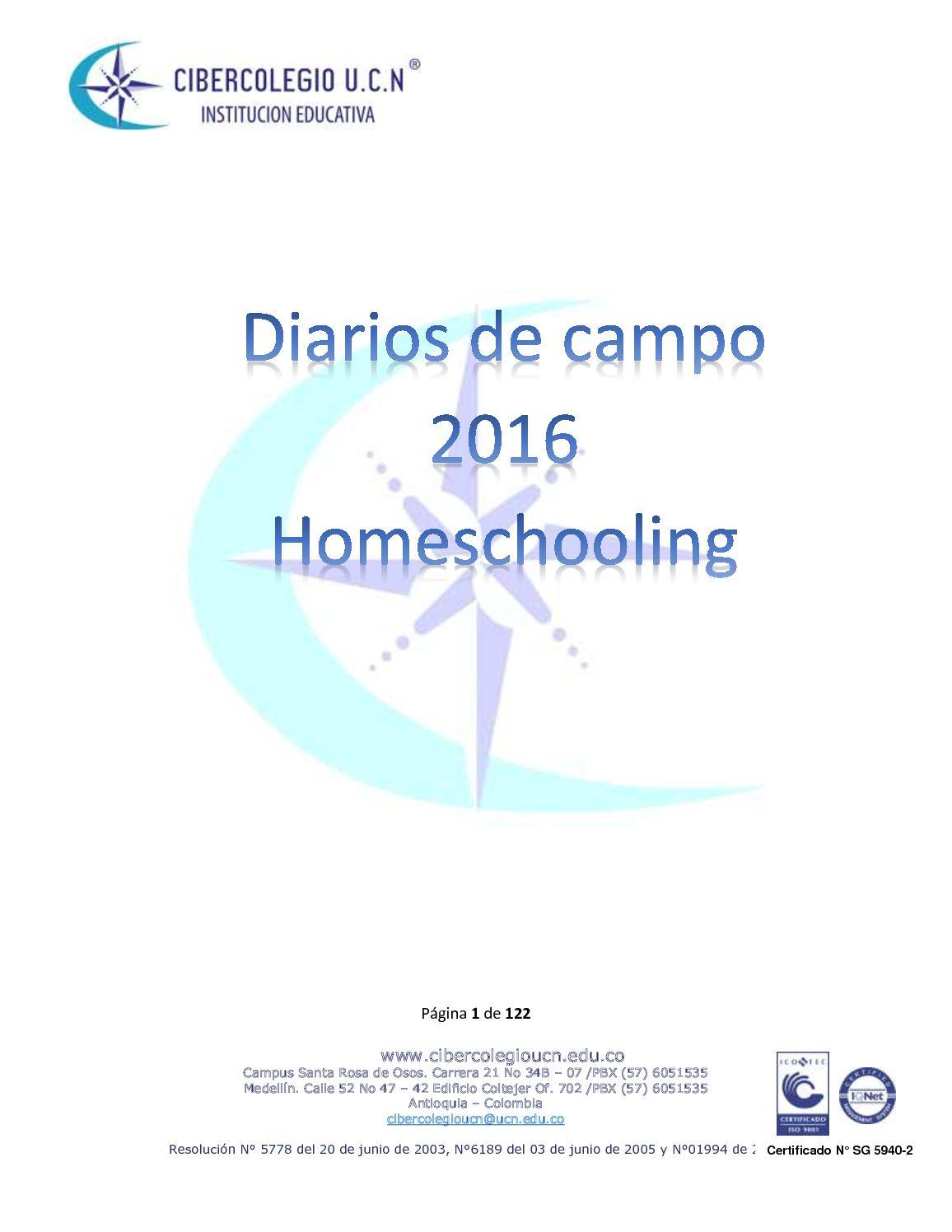 Diarios De Campo 2016 Homeschooling Pdf
