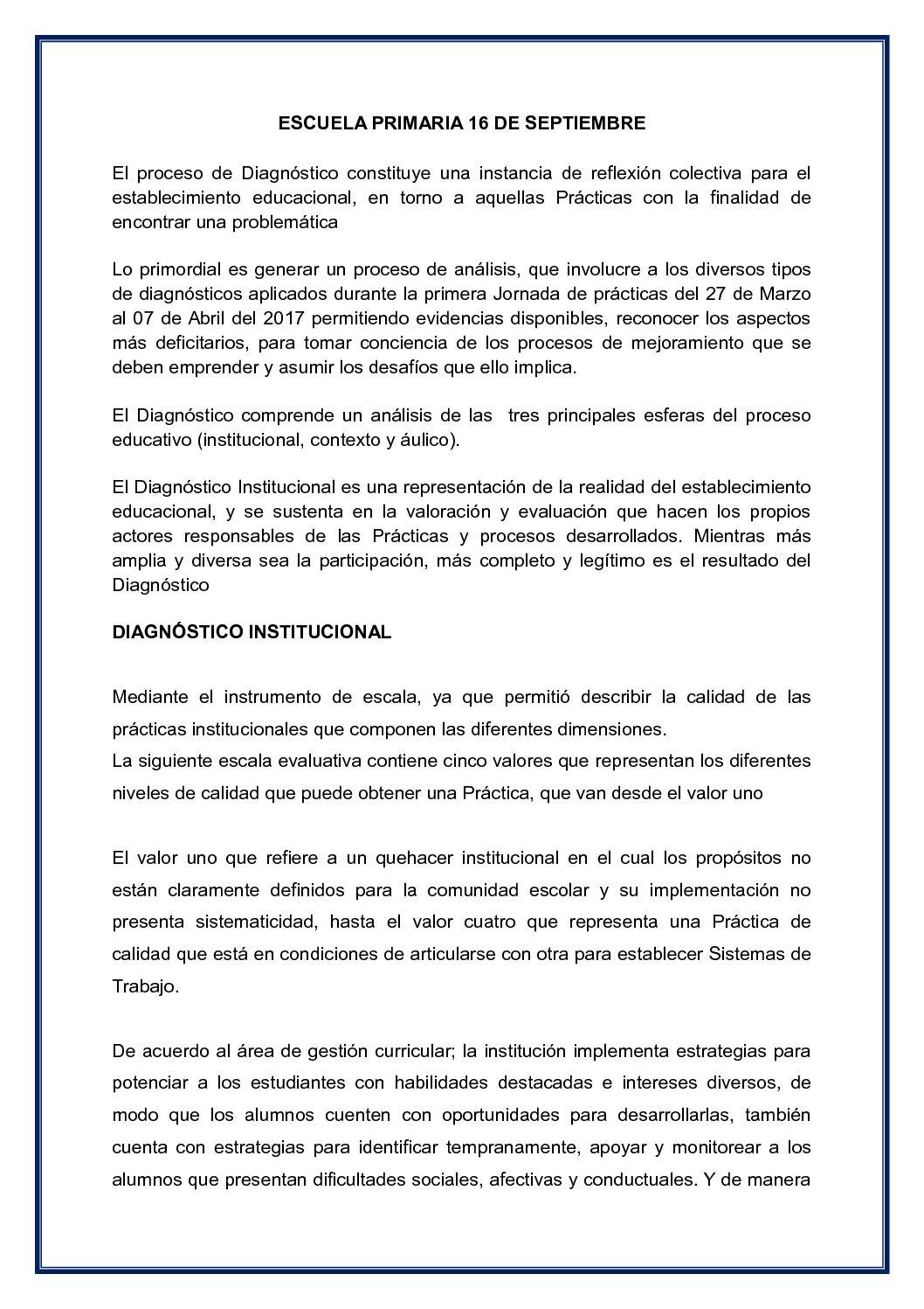 INFORME DIAGNOSTICO INSTITUCIONAL  TRABAJO 3