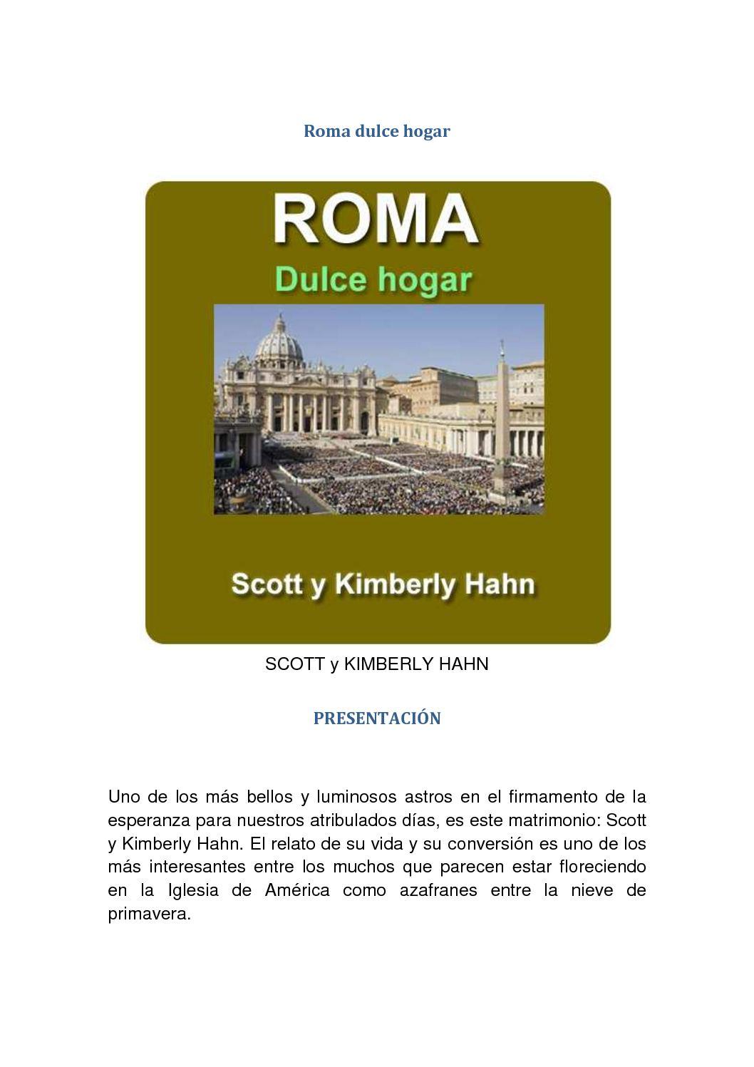 Calaméo - Roma Dulce Hogar Scott Y Kimberly Hahn