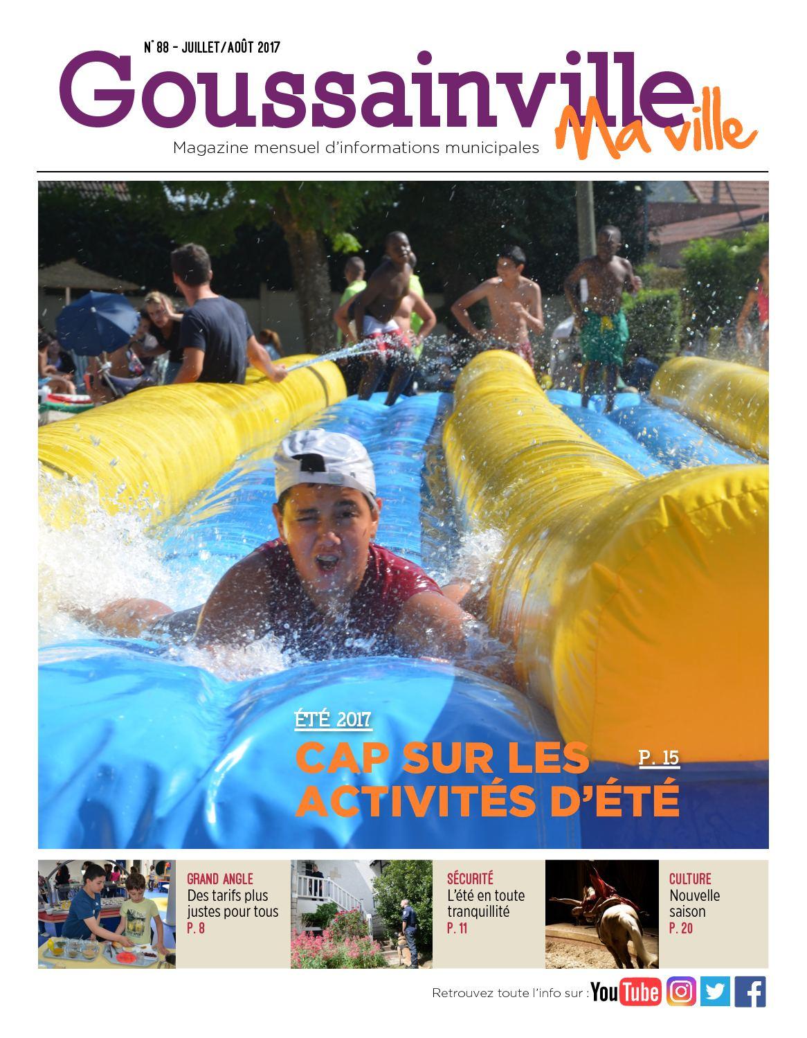Calam o goussainville ma ville n 88 juillet ao t 2017 for Piscine de goussainville