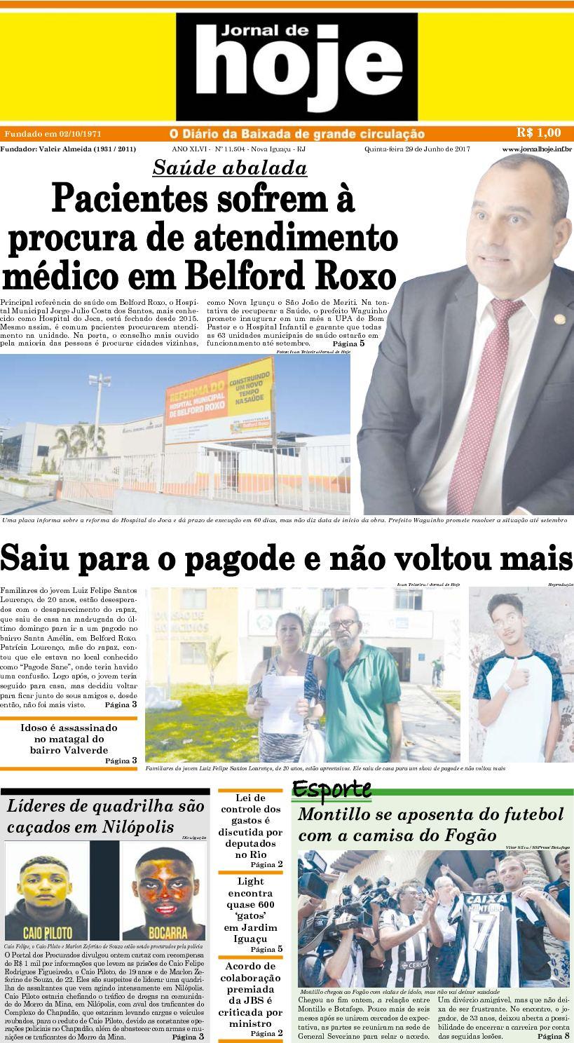 Jornal De Hoje 290617