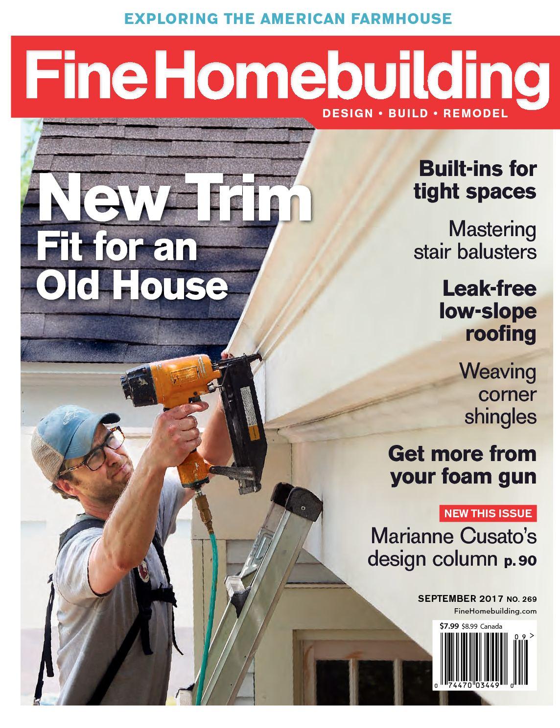 Calam o fine homebuilding 269 preview for Fine homebuilding