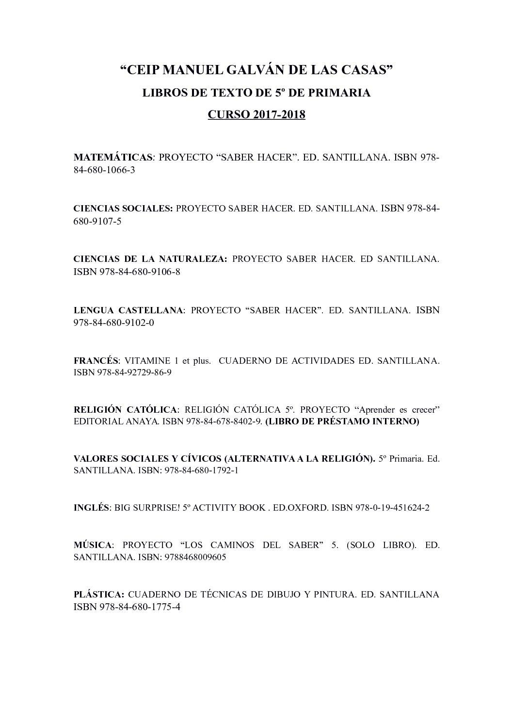 Calaméo - Libros Y Material 5º Y 6º