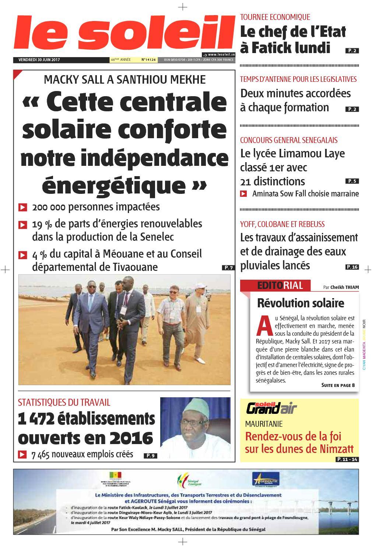Edition Du 30 Juin 2017