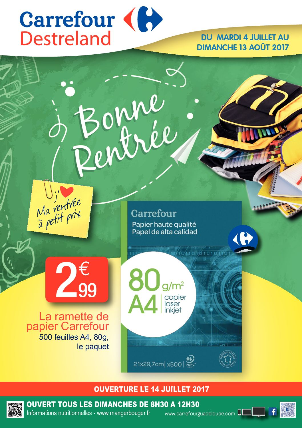 Extrêmement Calaméo - Carrefour Destreland Rentree Des Classes OG57