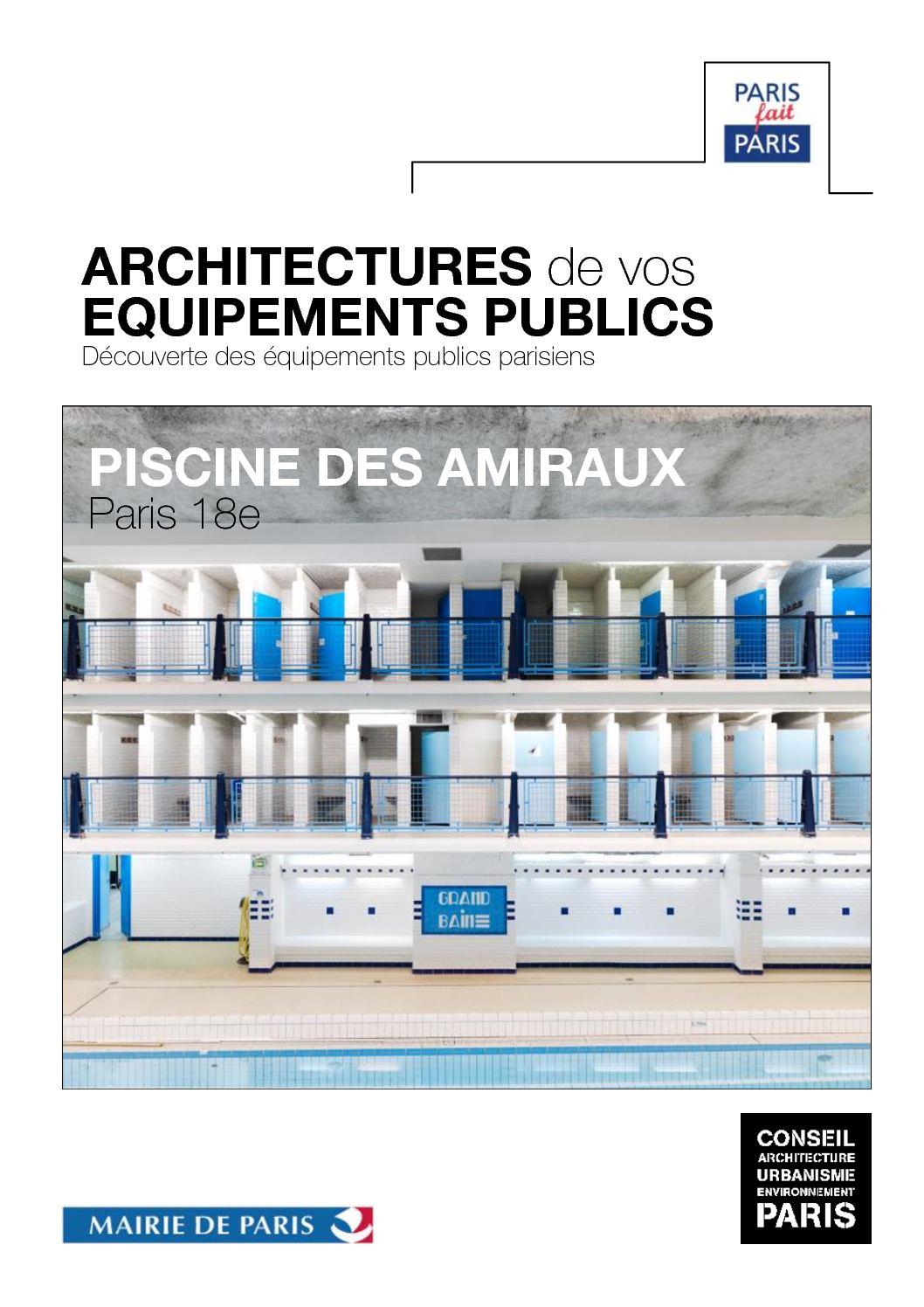 Calam o livret equipement public piscine des amiraux for Piscine des amiraux