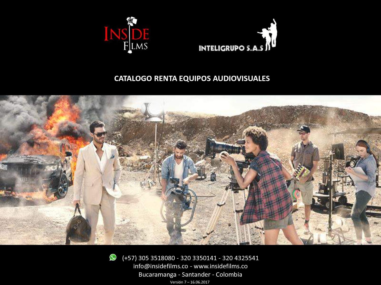 Calaméo - Catalogo Renta Equipos de Cine Inside Films