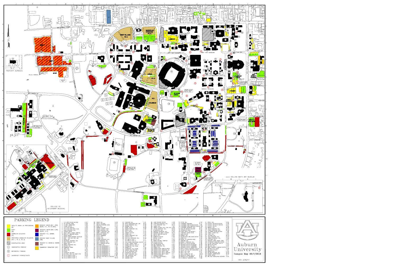 Calameo Auburn University Parking Map