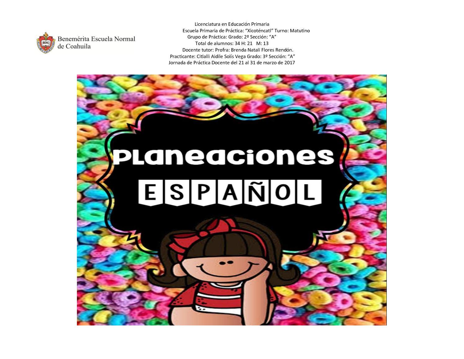 Formato Leccion Español, Pdf