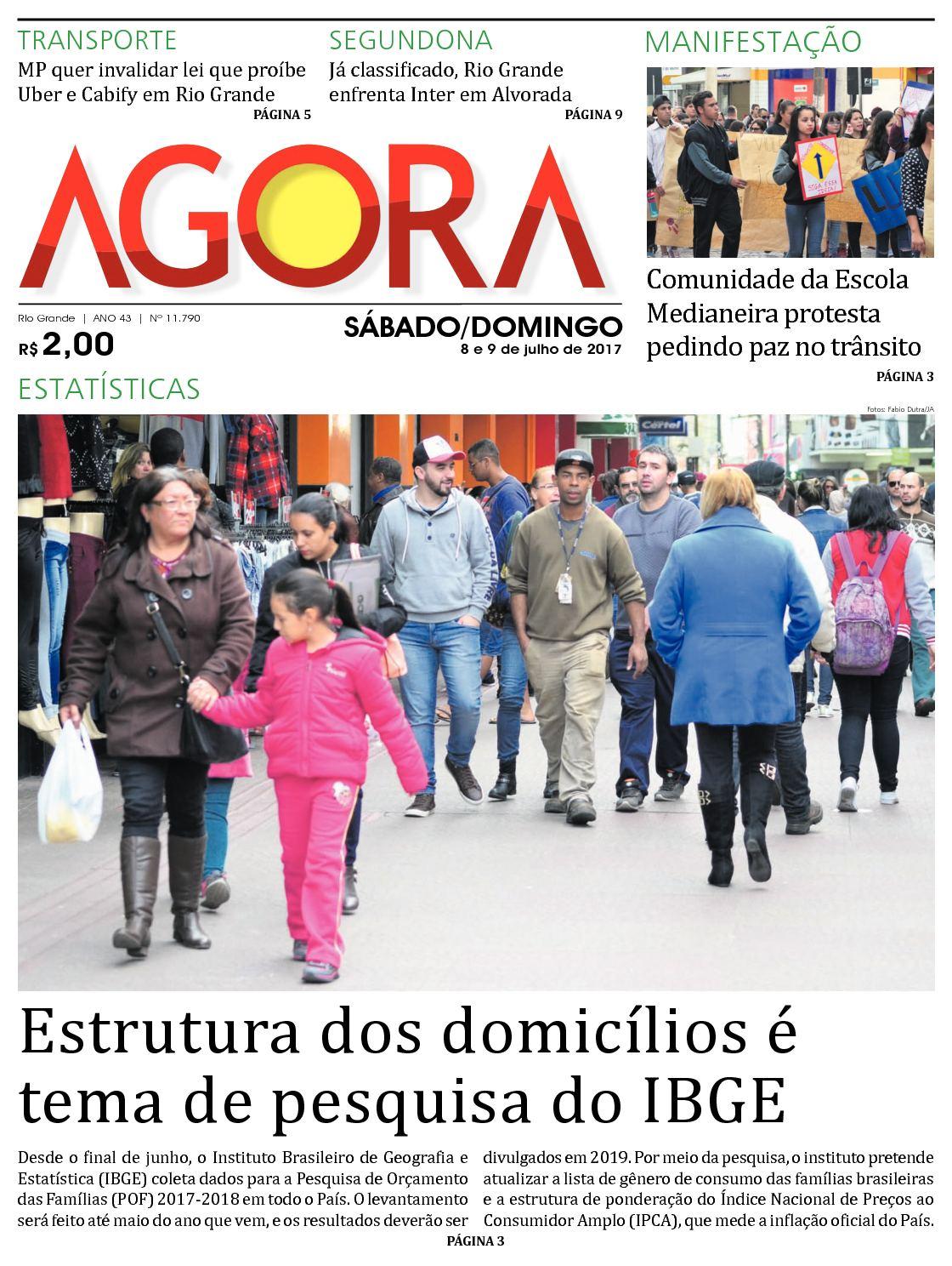 Jornal Agora - Edição 11790 - 8 e 9 de Julho de 2017