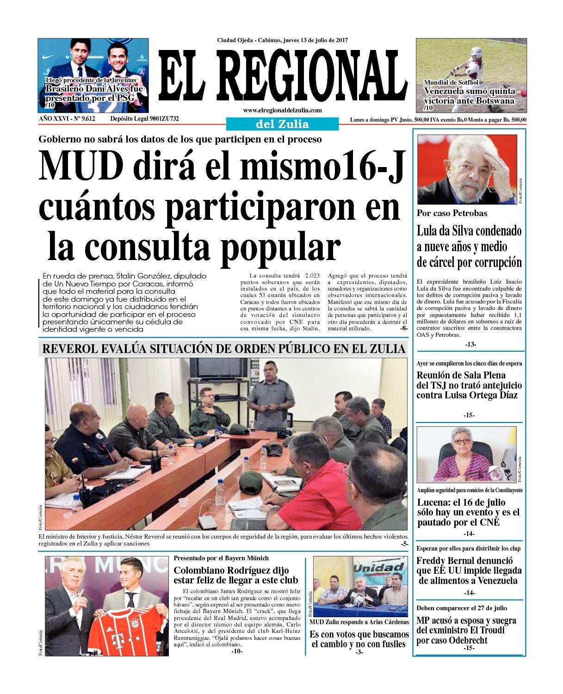 El Regional del Zulia 13-07-2017