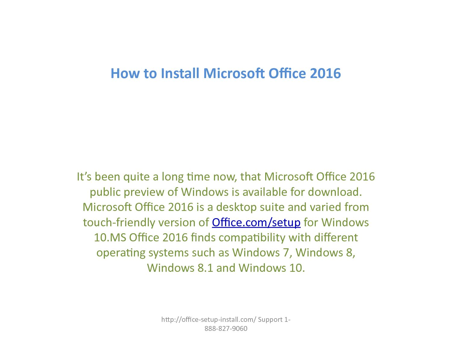 microsoft office 2016 download windows 7