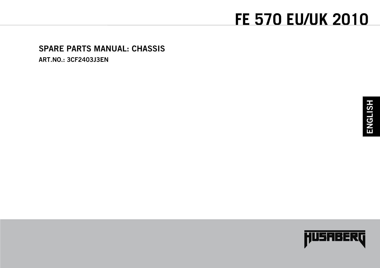 husaberg 450 650 fe fs 2004 parts manual