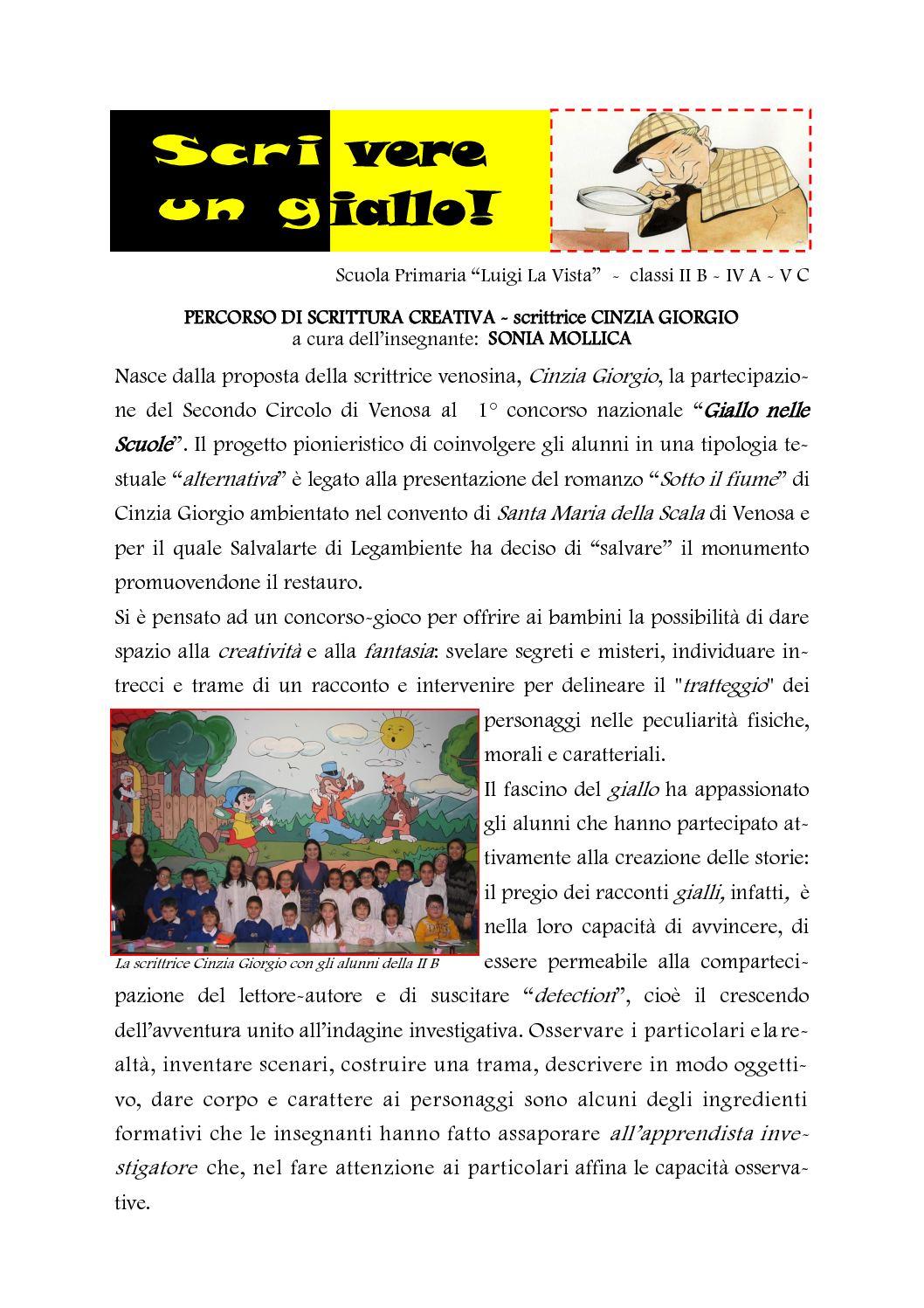 Top Calaméo - SCRITTURA CREATIVA: il GIALLO RV61