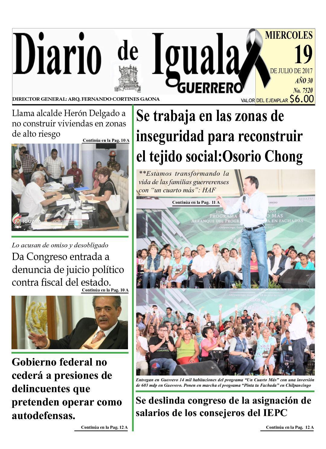 Diario De Iguala Miercoles 19 De Julio De 2017
