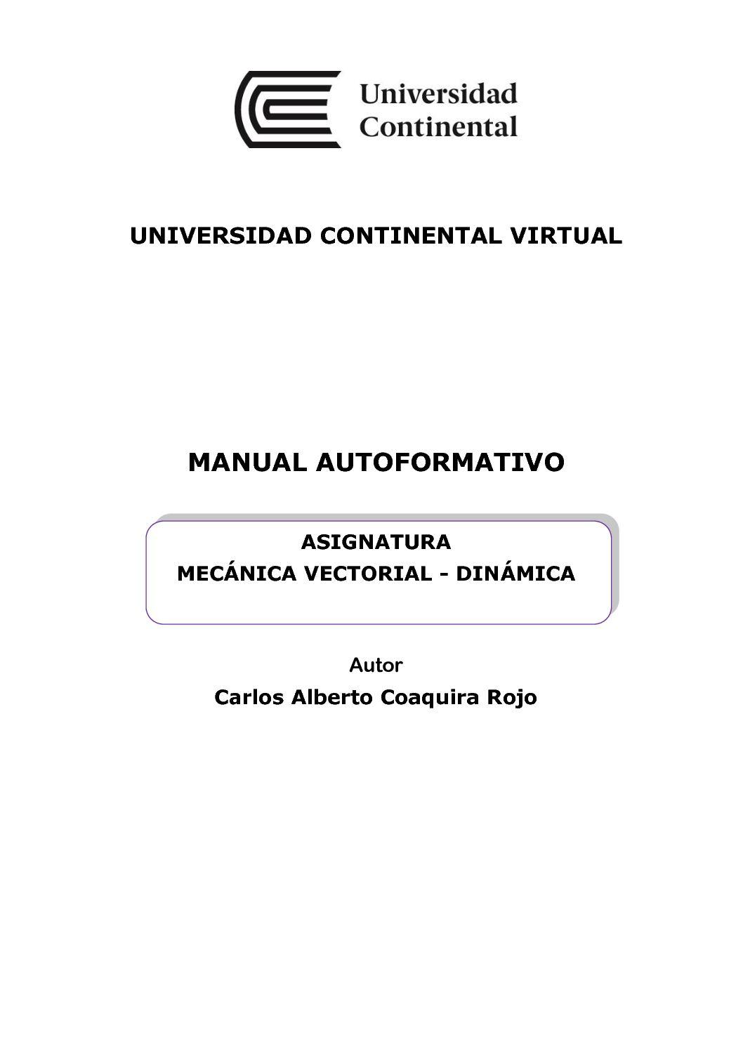 Calaméo - Uc0573 Mecánica Vectorial Dinamica