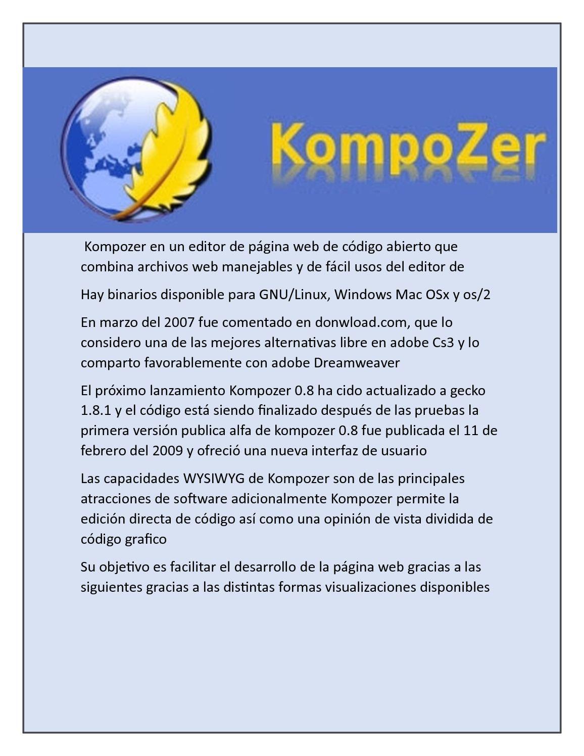 Calaméo - Kompozer