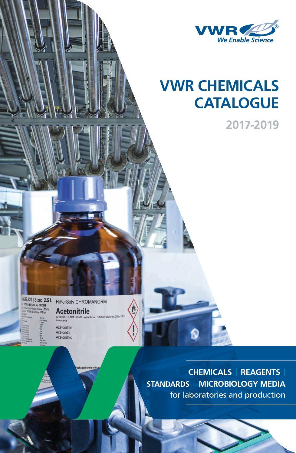 Cata Vwr Chemicals 2017 En Pdf
