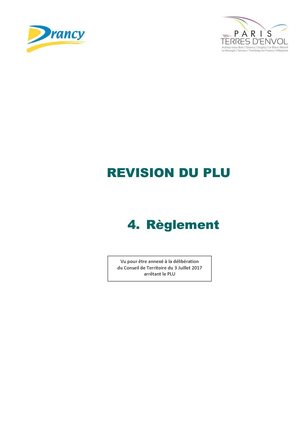 Révision PLU – 4 – Règlement