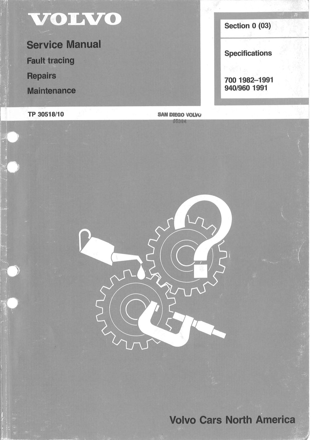 91 volvo 940 1991 owners manual