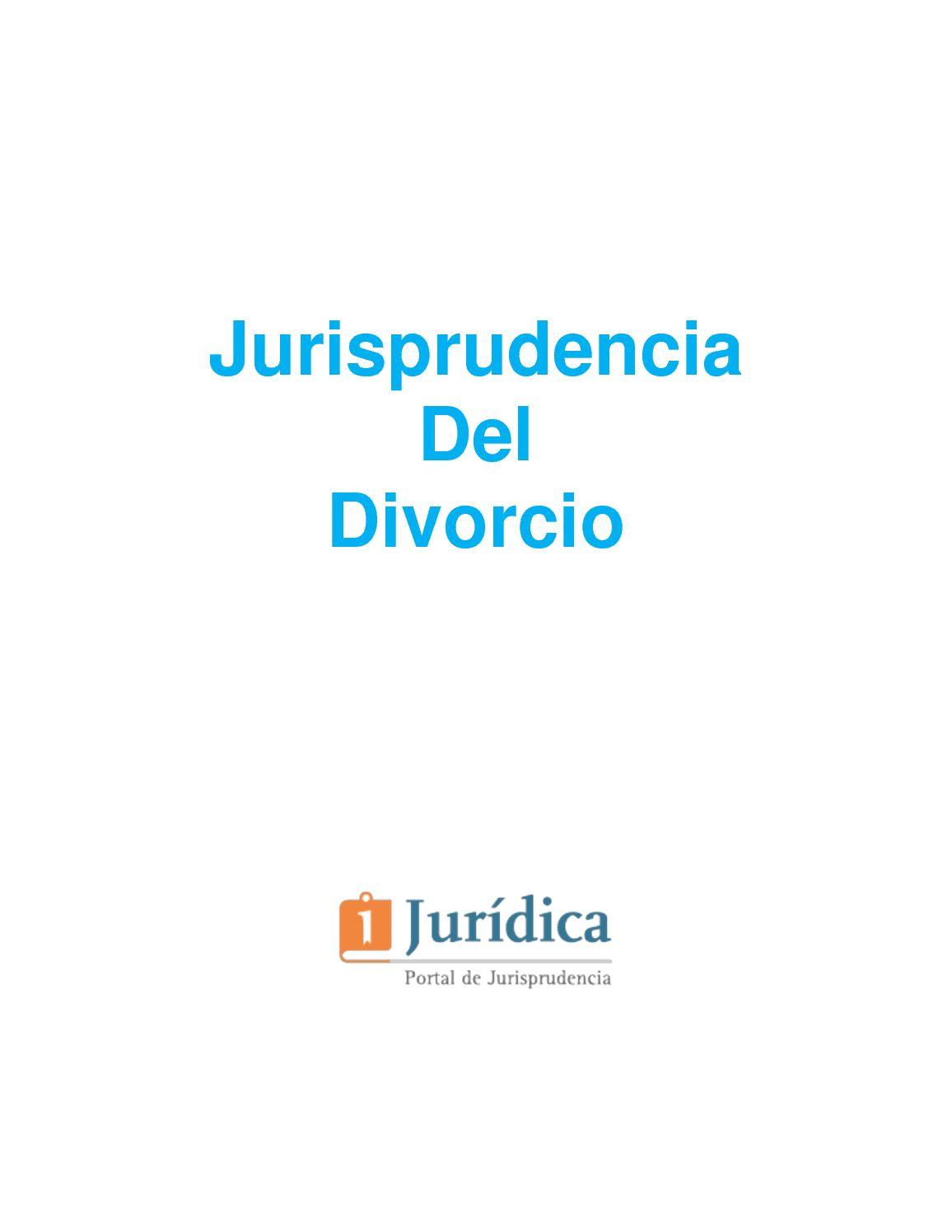 Jurisprudencia Del Divorcio