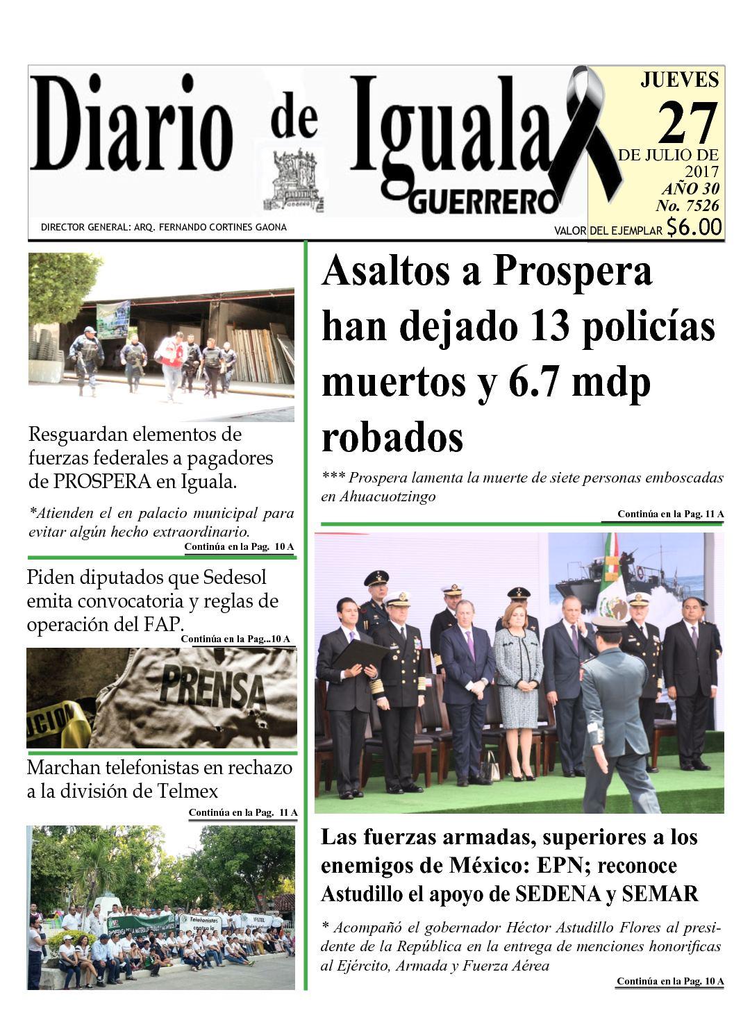 Diario De Iguala Jueves 27 De Julio De 2017