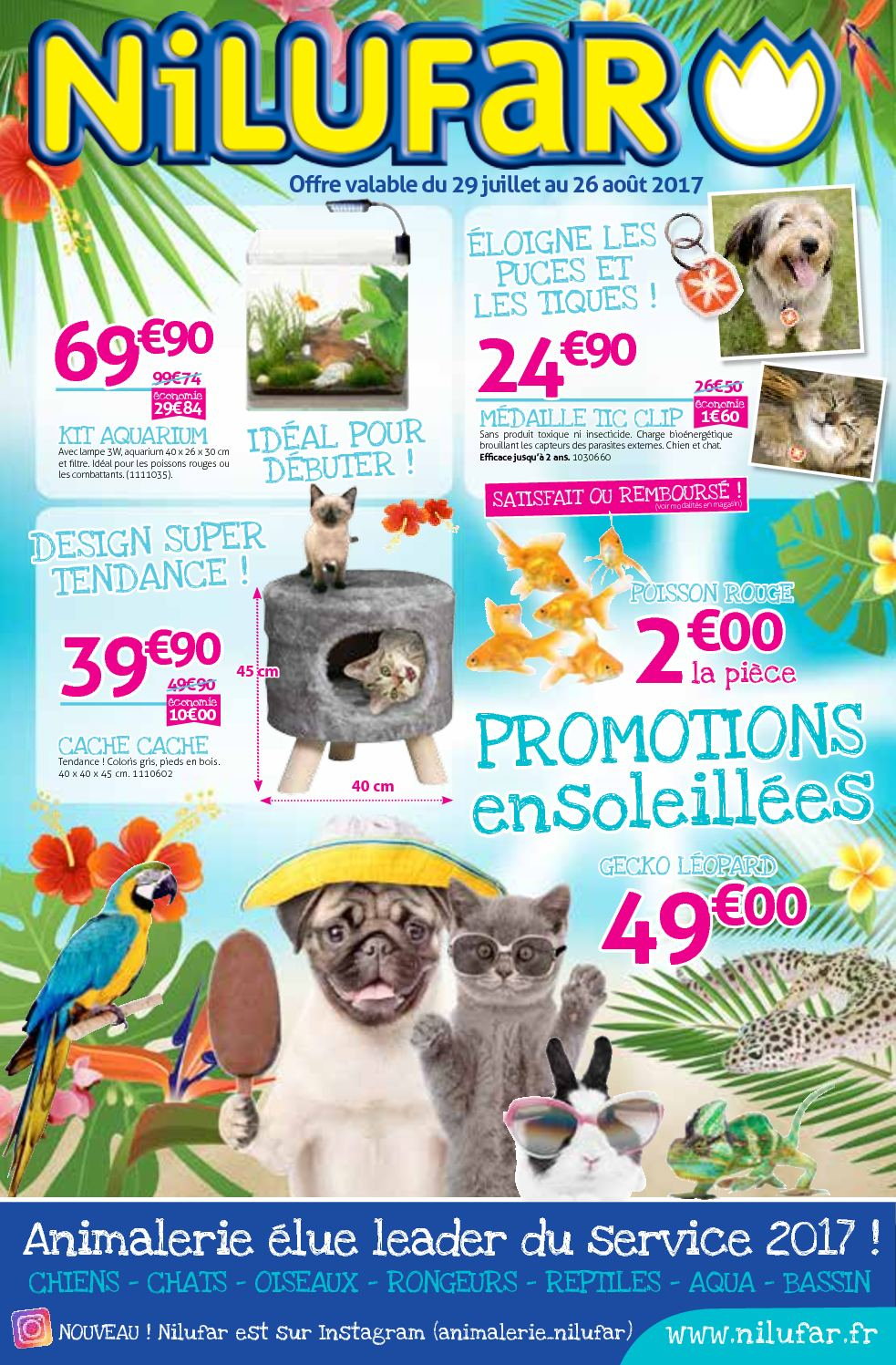 Catalogue estival des animaleries Nilufar