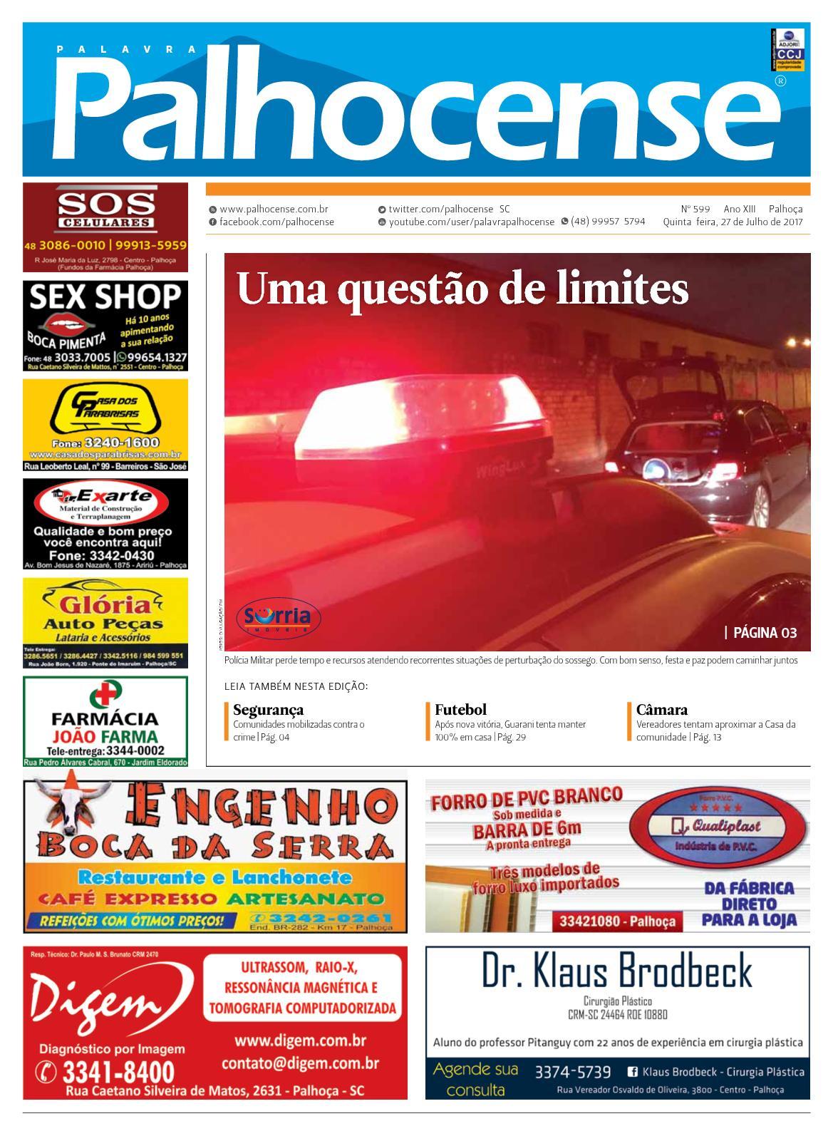 JORNAL PALAVRA PALHOCENSE - EDIÇÃO 599