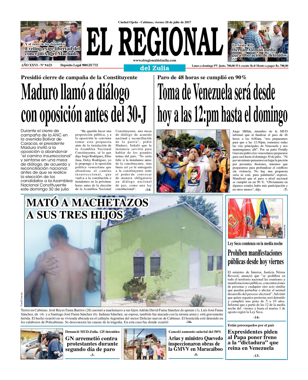 El regional del zulia 28-07-2017