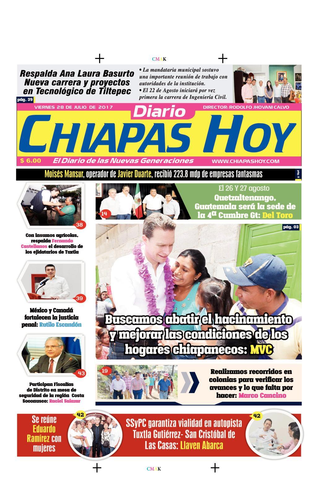 CHIAPAS HOY 28 DE JULIO
