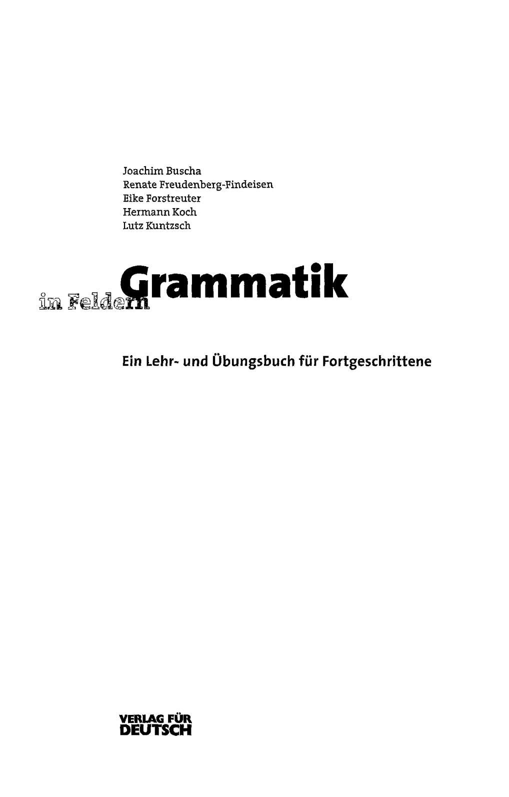 Calaméo - Grammatik In Feldern