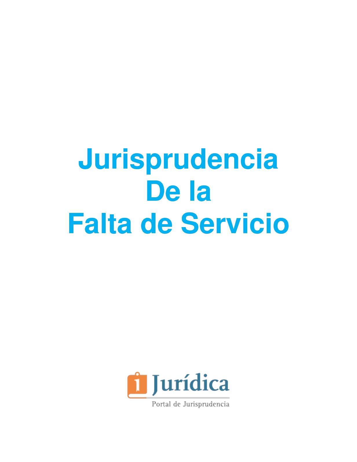 Jurisprudencia De La Falta De Servicios