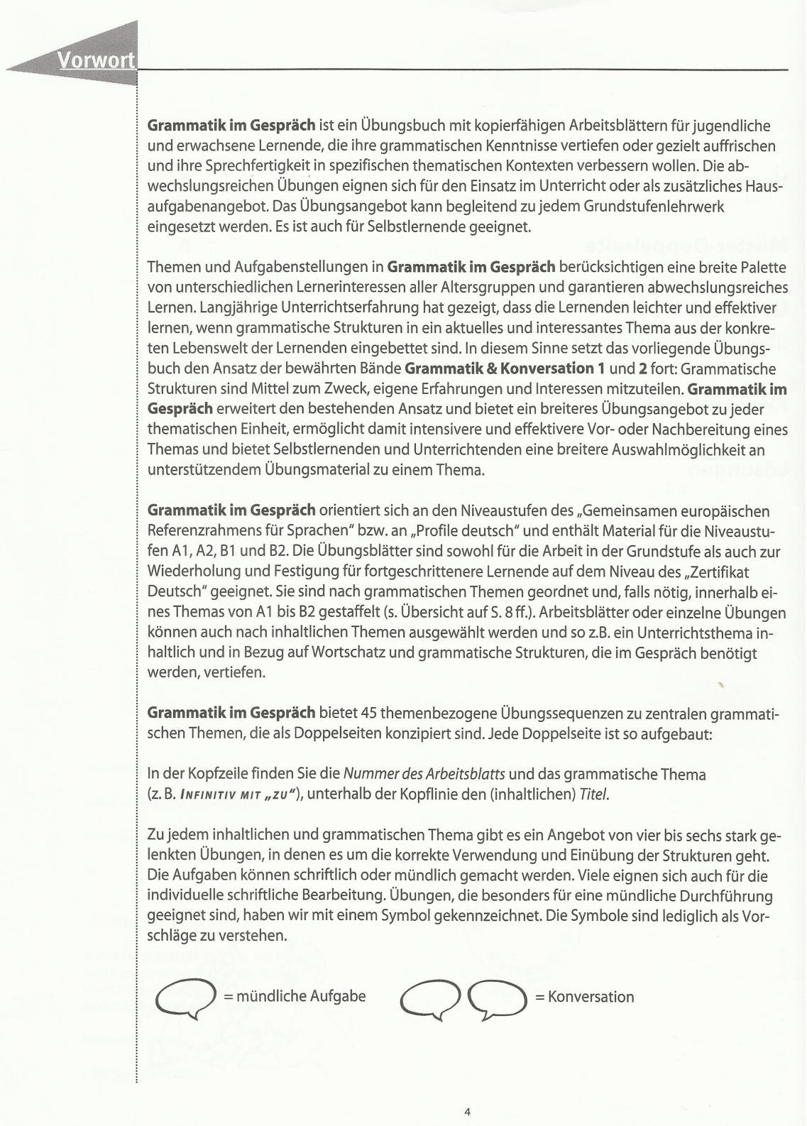 Grammatik Im Gespräch, Arbeitsblätter Für Den Deutschunterricht ...