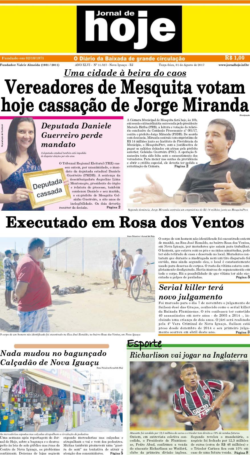 Jornal De Hoje 010817