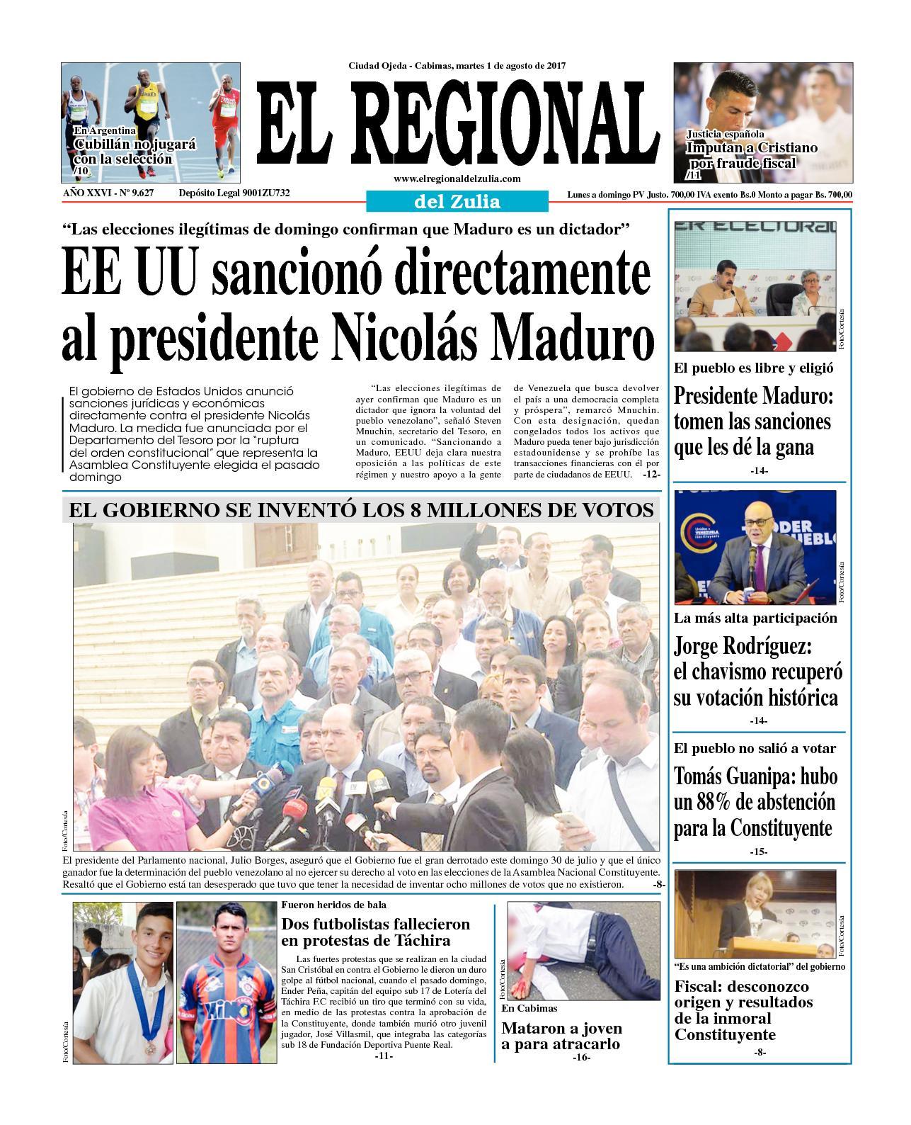 El regional del zulia 01-08-2017