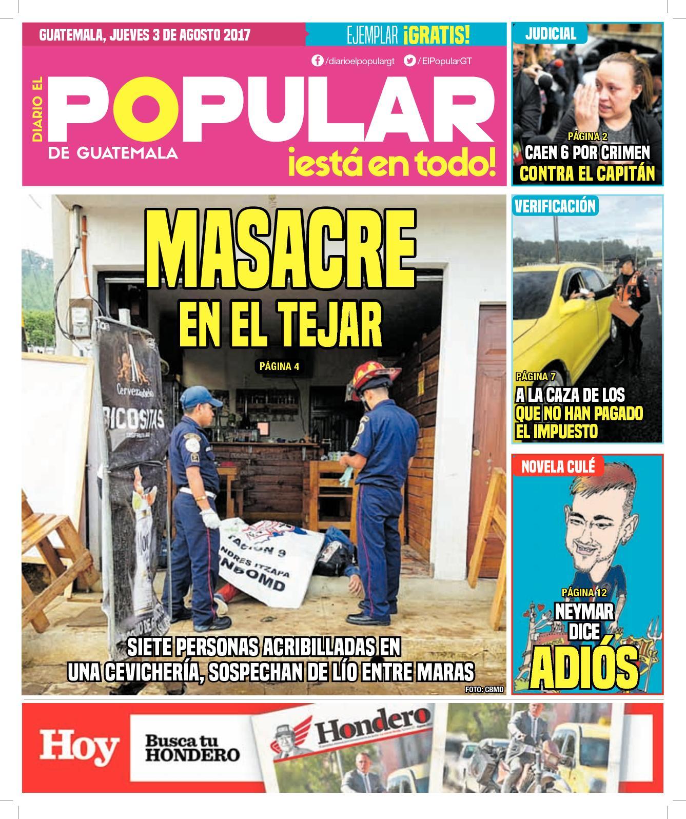 EL POPULAR GUATEMALA 03082017