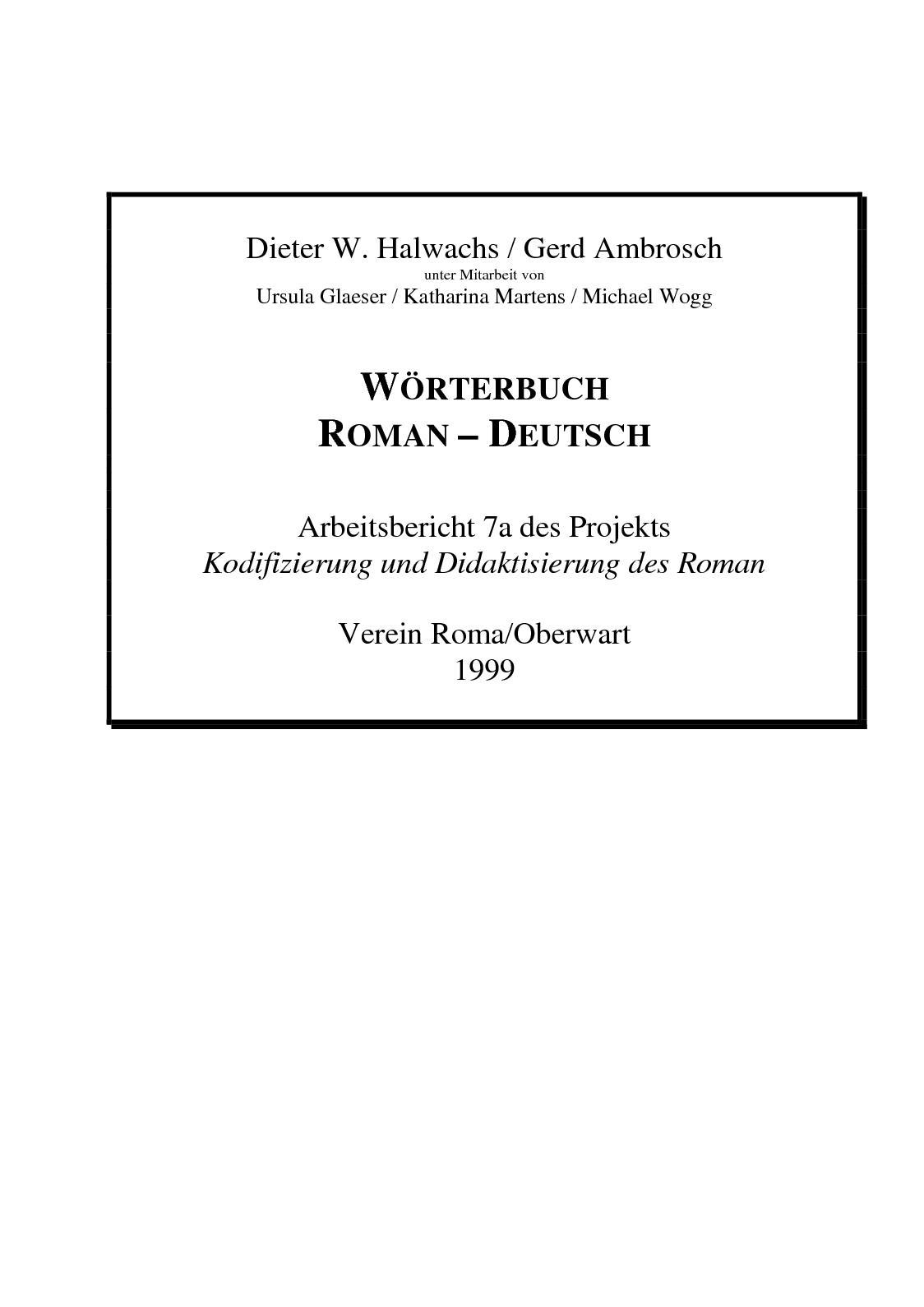 Calaméo - Wörterbuch Roman Deutsch