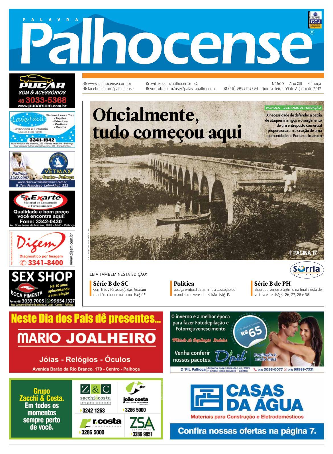 JORNAL PALAVRA PALHOCENSE - EDIÇÃO 600